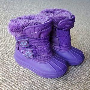 Cat & Jack Toddler Girls Snow Boots Purple sz 5/6